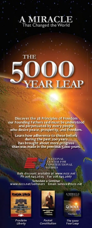 Liberty Card - 28 Principles of Liberty - 5000 Year Leap (100 cards)