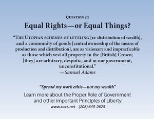 100 Liberty Cards - (Equal Rights or Equal Things) - National Center for Constitutional Studies