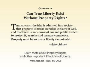 Liberty Card - Life, Liberty, Property (Bundle of 100) - National Center for Constitutional Studies