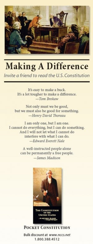 100 Liberty Cards - (Making a Difference) - National Center for Constitutional Studies