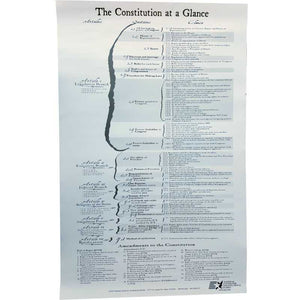 Back side of Constitution poster which shows the Constitution at a glance.
