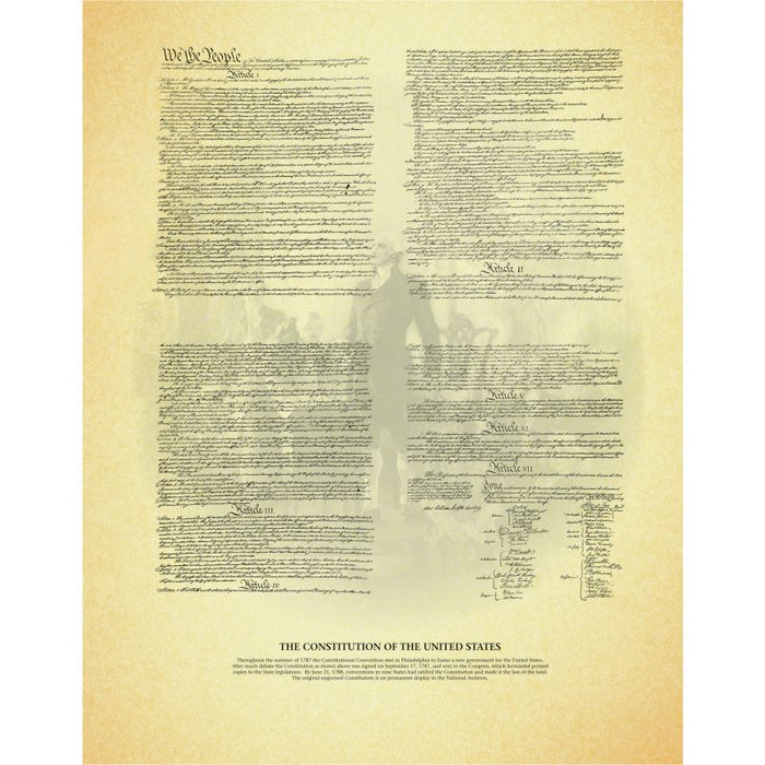 The Constitution of the United States, unframed document