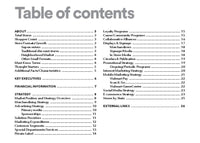 walmart strategy table of contents