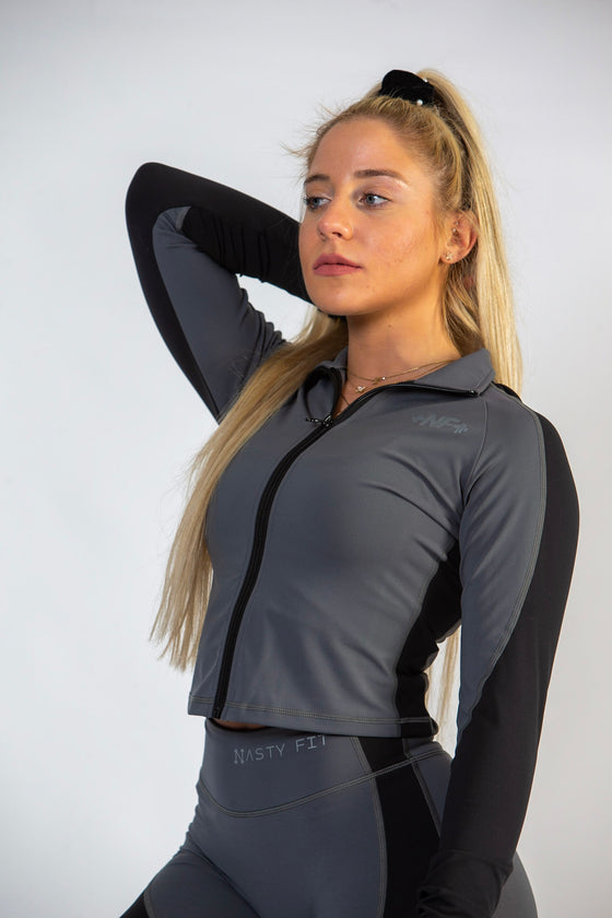 Black/Grey Contour Jacket