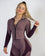 Mauve and Purple Fitted Workout Jacket for Women