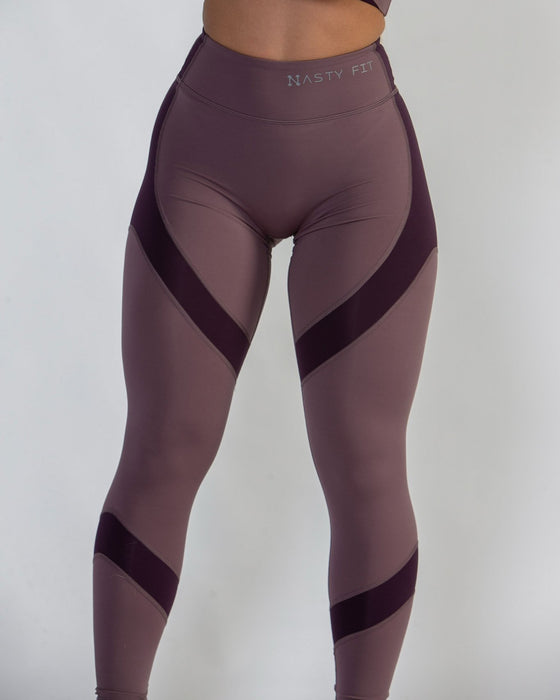 Purple and Mauve High Waisted Leggings for Women