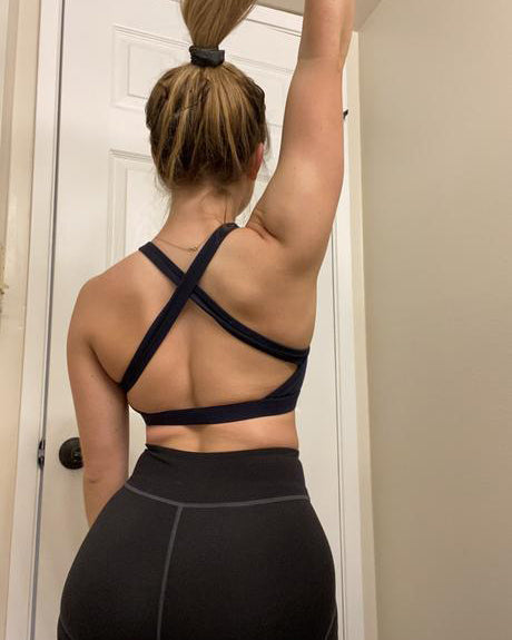 Navy Blue Seamful Sports Bra
