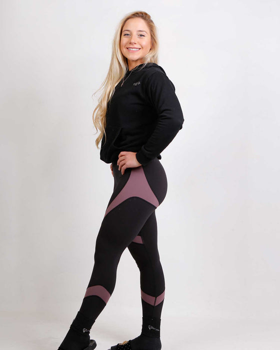 Black/Purple Contour Leggings