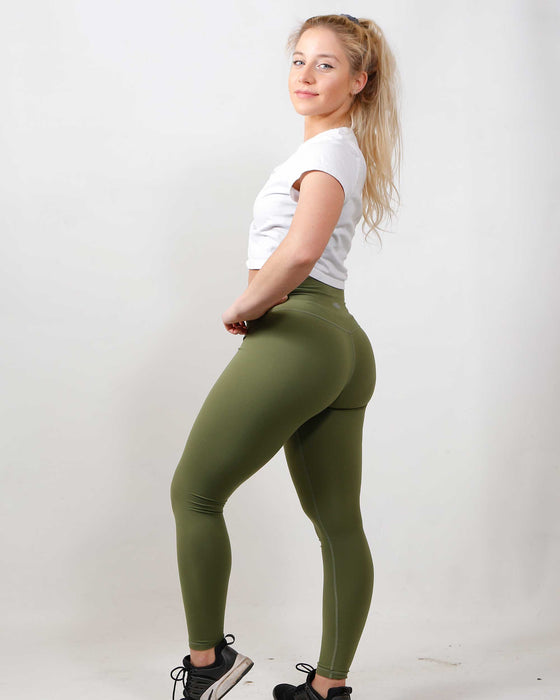 High-Waisted Leggings Forest Green