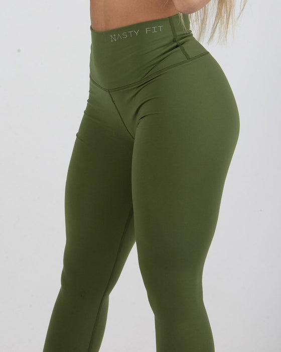 Forest Green High Waisted Leggings for Women
