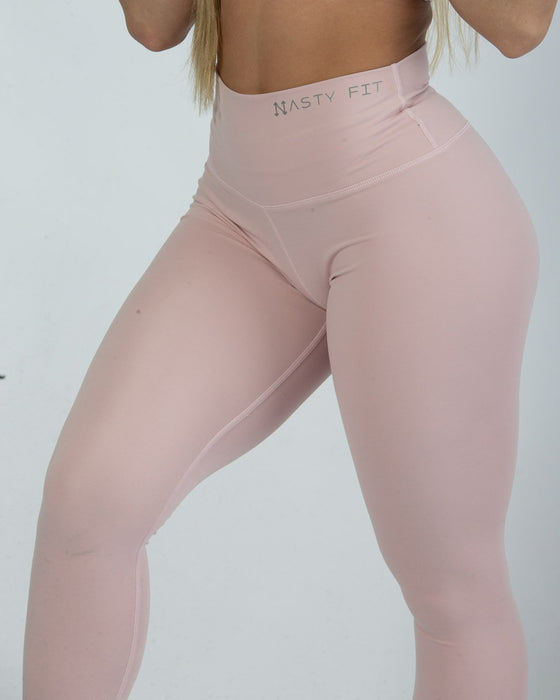 Baby Pink High Waisted Leggings for Women Light Pink