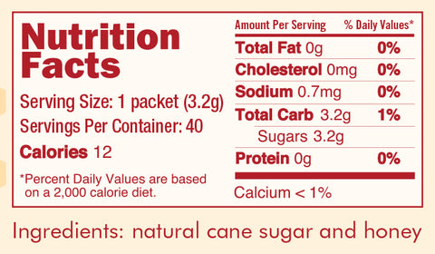 Nektar packets nutrition facts