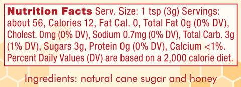 Nektar bottle nutrition facts