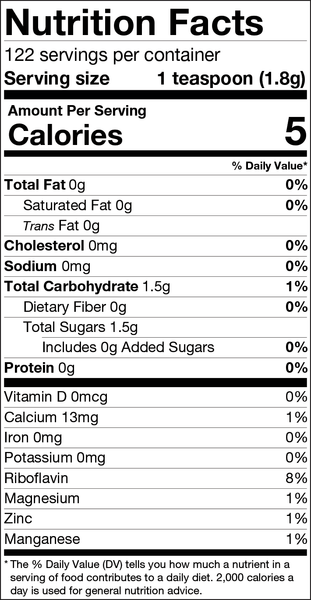 Maple flakes nutrition facts