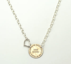 Mariamor Give Me 1000 Kisses Quarter Statement Necklace, Sterling Silver
