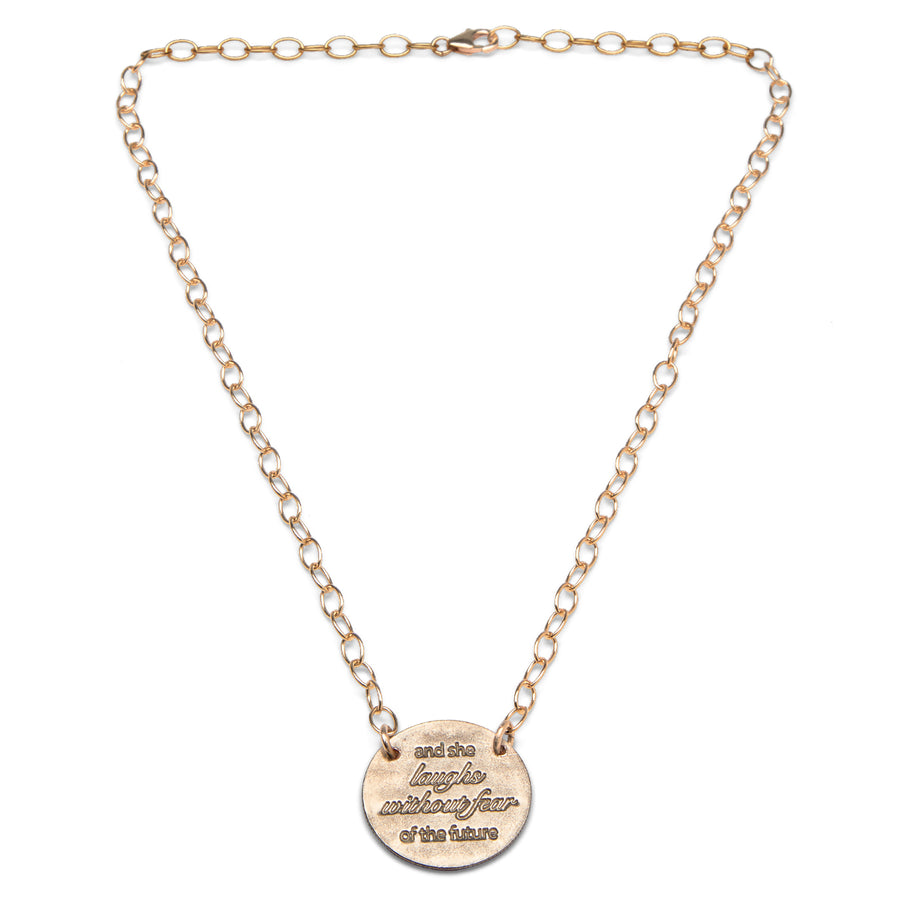 Mariamor She Laughs Without Fear Quarter Extra Light Statement Necklace, Gold