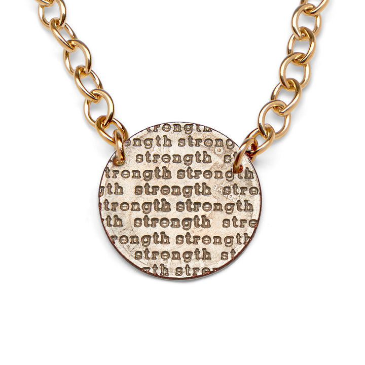 Mariamor Strength Nickel Statement Necklace, Gold
