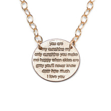 You Are My Sunshine gold statement necklace