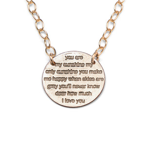 Mariamor You Are My Sunshine Quarter Statement Necklace, Gold