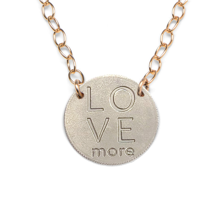Mariamor Love More Quarter Extra Light Statement Necklace, Gold