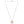 Mariamor Loved Quarter Necklace, Sterling Silver