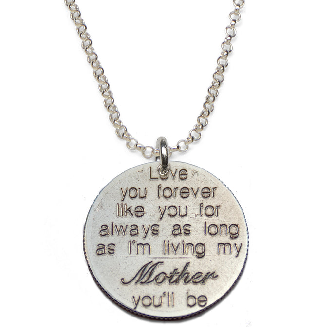 Love You Forever- Mom sterling silver necklace