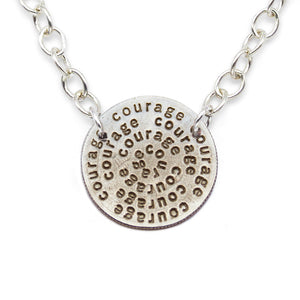 Courage silver statement necklace