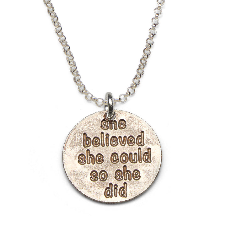 Mariamor She Believed She Could Necklace, Sterling Silver