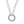 Mariamor Customizable Textured Charm Holder Statement Necklace, Sterling Silver