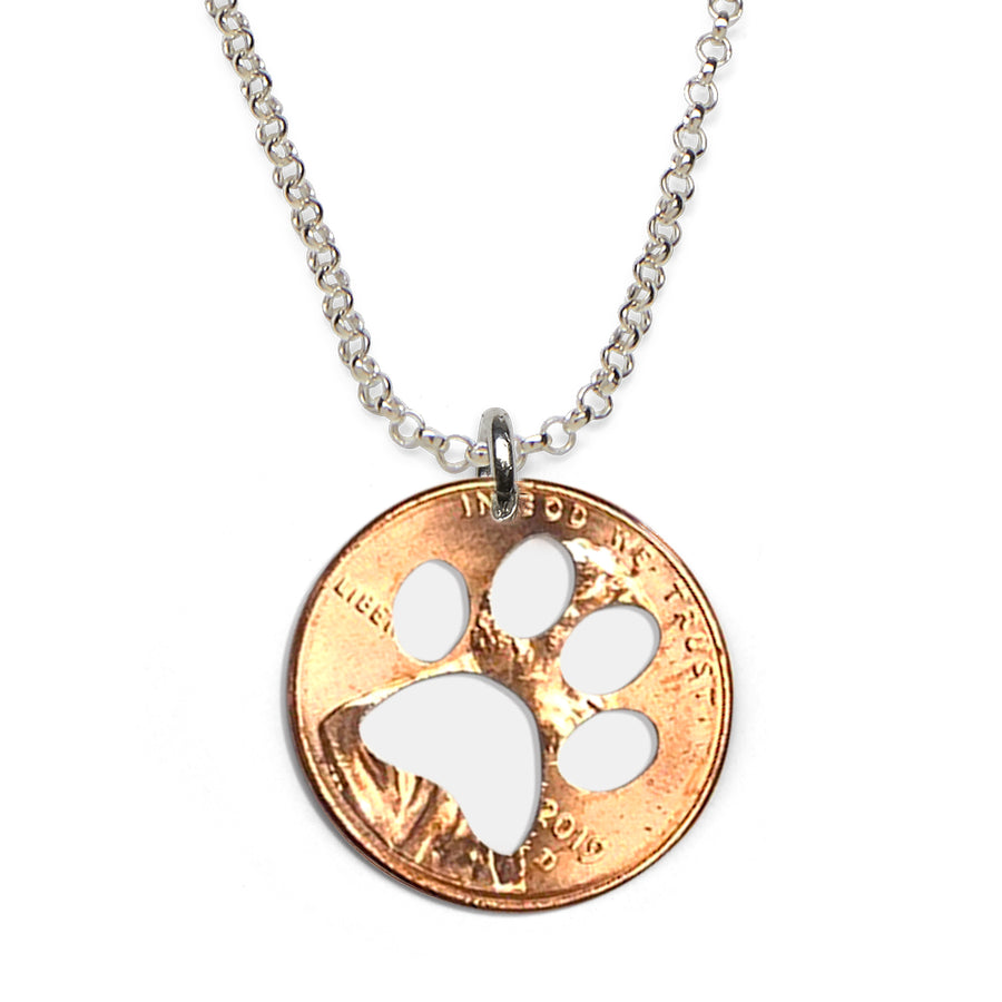 Mariamor Clemson Tiger Coin Cutout Necklace, Sterling Silver
