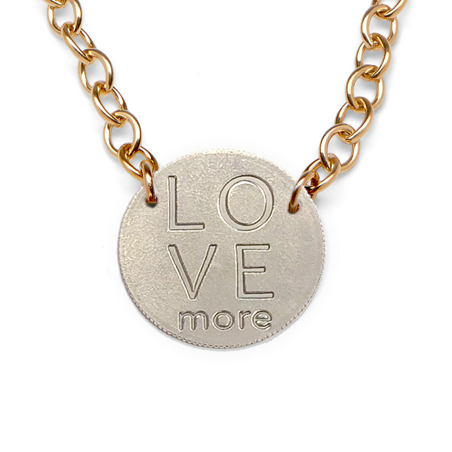 Mariamor Love More Quarter Statement Necklace, Gold