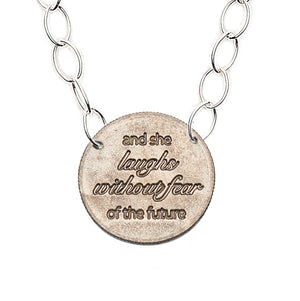 Mariamor She Laughs Without Fear Quarter Featherweight Statement Necklace, Sterling Silver