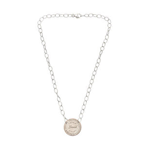 Mariamor Loved Quarter Featherweight Sterling Silver Statement Necklace