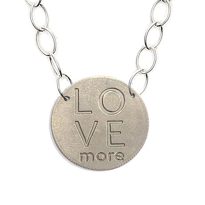Mariamor Love More Quarter Featherweight Sterling Silver Statement Necklace