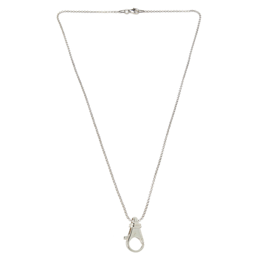 Mariamor Small Charm Holder Necklace, Sterling Silver