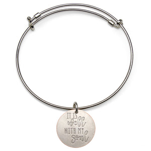 Mariamor It Is Well Quarter Adjustable Bangle, Sterling Silver