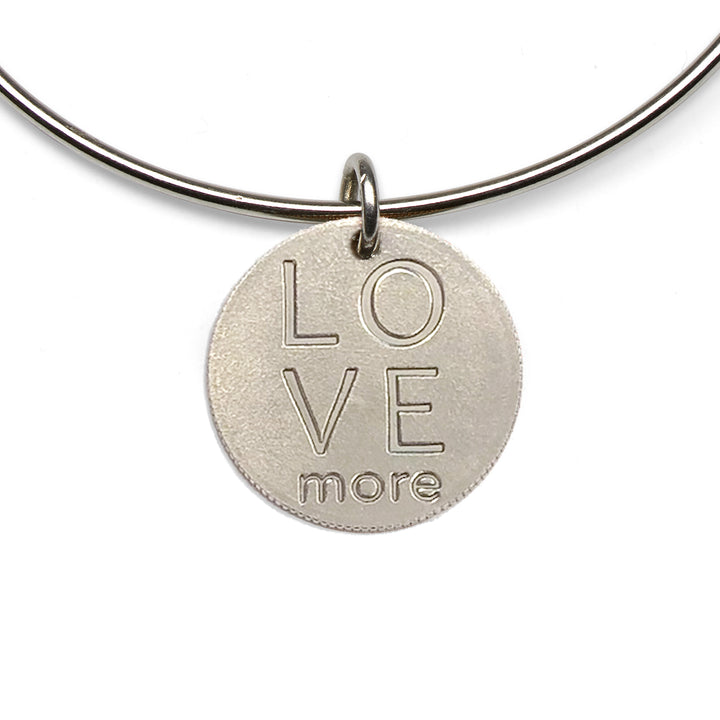 Mariamor Love More Quarter Adjustable Bangle, Sterling Silver
