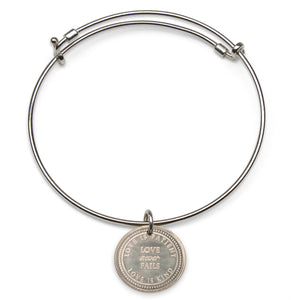 Mariamor Love Never Fails Adjustable Bangle, Sterling Silver