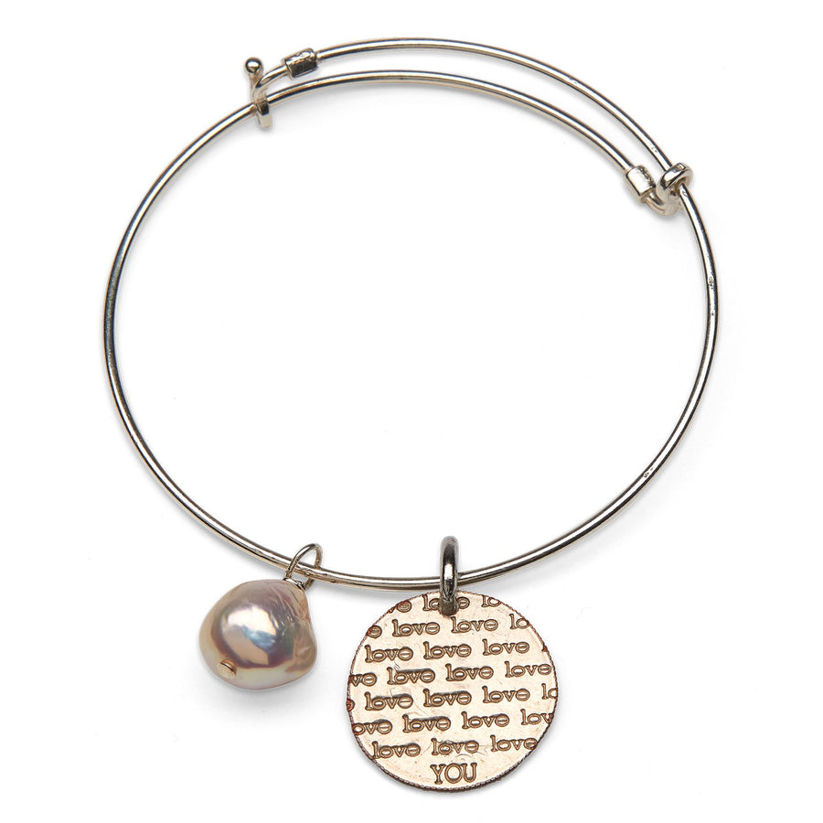 Mariamor Coin and Adjustable Bangle Bracelet, Sterling Silver