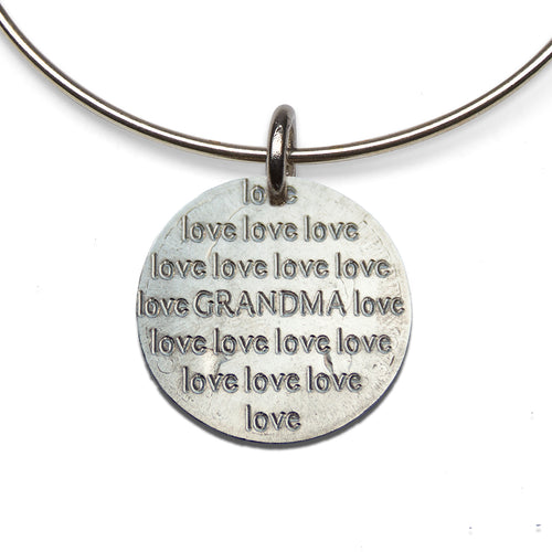 Love Love [your] Grandma adjustable sterling bangle