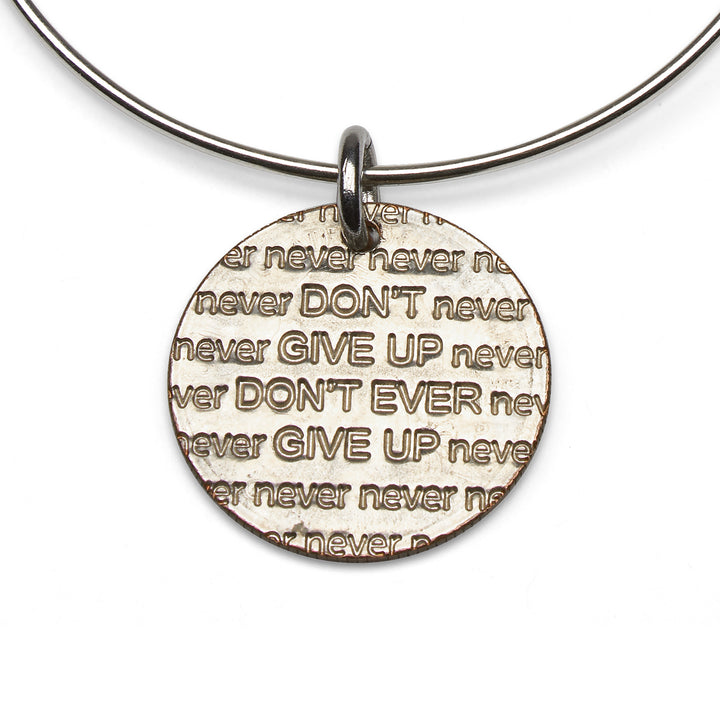 Mariamor Don't Give Up Quarter Adjustable Bangle, Sterling Silver