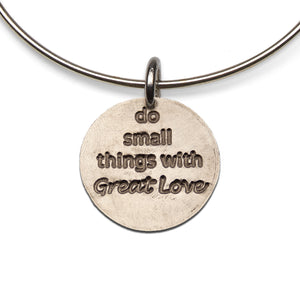 Mariamor Small Things Great Love Nickel Adjustable Bangle, Sterling Silver