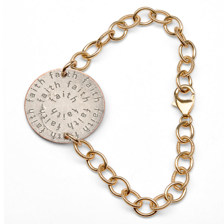 Mariamor Faith Quarter Bracelet, Gold