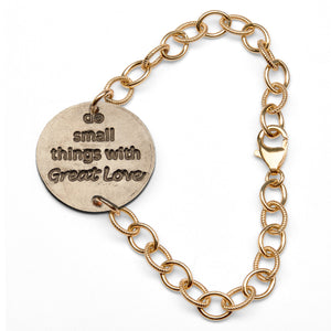 Mariamor Small Things Great Love Quarter Bracelet, Gold