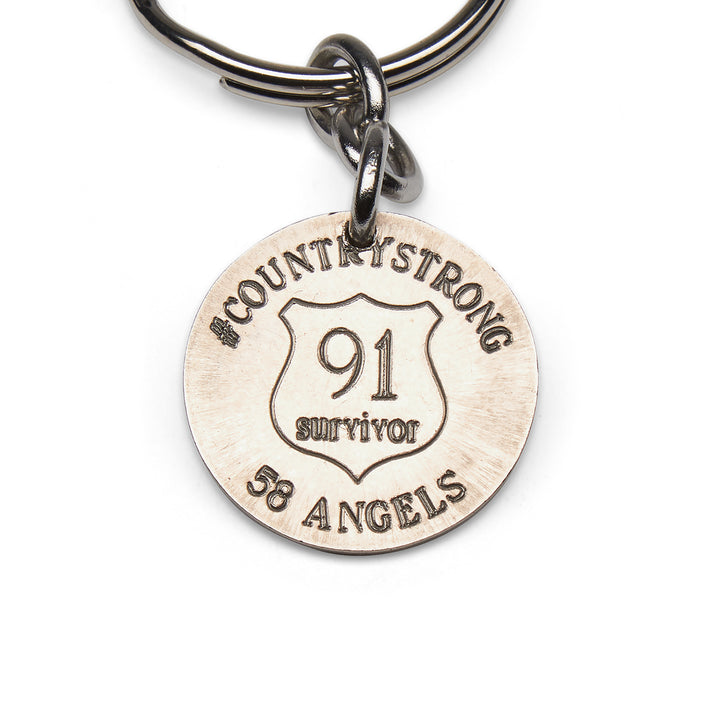 Mariamor Route 91 Nickel Keychain