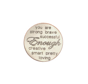 Mariamor You Are Enough Quarter Heart Keychain