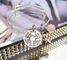 Breast Cancer Awareness customizable sterling bangle