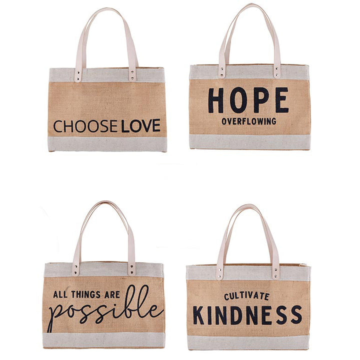 Good Vibes Canvas Market Tote