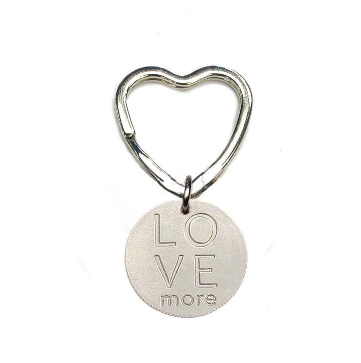 Mariamor Love More Quarter Heart Keychain