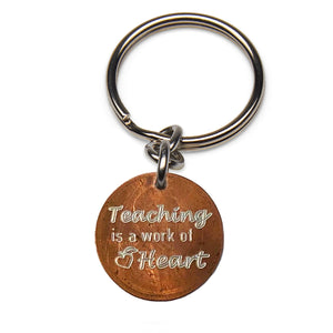 Mariamor Teaching is a Work of Heart Keychain